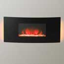 Apex Fires Mirage Curved Deluxe Wall Hung Electric Fire