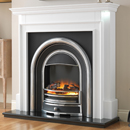 Beaucrest Fires Jewel Cast Freestanding Electric Fireplace Suite