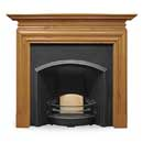 Carron Fires London Plate Wide Cast iron Insert