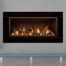 Apex Fires Cirrus X1 HE Black Glass Hole in the Wall Inset Gas Fire