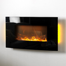 Apex Fires Havana Curve Hang on the Wall black Electric Fire
