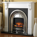 Beaucrest Fires Romney 48 Cast Freestanding Electric Fireplace Suite