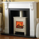 Beaucrest Fires Romney 48 Recessed Stove Electric Fireplace Suite