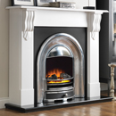 Beaucrest Fires Romney 54 Cast Freestanding Electric Fireplace Suite