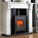 Beaucrest Fires Romney 54 Recessed Stove Electric Fireplace Suite