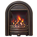 Be Modern Fires Abbey Black Highlighted Fascia Gas Fire