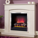 Be modern Fires Linmere Almond Electric Suite