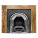 Carron Fires Manhattan 51 Solid Acacia Surround