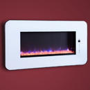 Celsi Touchflame White Wall Mounted Electric Fire