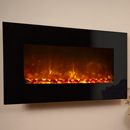 Celsi Electriflame XD Black Glass Wall Mounted Electric Fire
