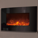 Celsi Electriflame XD Curved Black Glass Wall Mounted Electric Fire