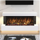 Elgin and Hall Evento 64 Pryzm Floor Standing Electric Fireplace Suite