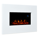 Eko 1110 White Metal Wall Mounted Electric Fire
