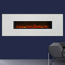 Eko 1190 Limestone Wall Mounted Electric Fire