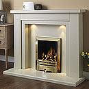 Pure Glow Hanley 48 Full Depth Gas Marble Fireplace Suite