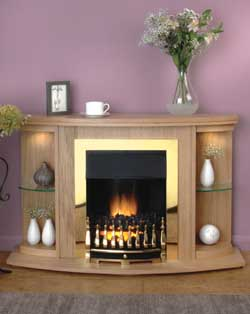 Flamerite Fires Mulberry Electric Fireplace Suite