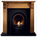 Gallery Fireplaces Coronet Black Cast Arch Gas Package