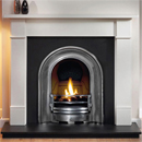 Gallery Fireplaces Coronet Half Polish Cast Arch Gas Package