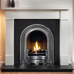 Gallery Fireplaces Coronet Half Polish Cast Arch Solid Fuel Package