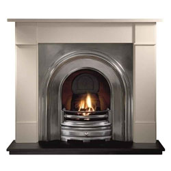 Gallery Fireplaces Crown Full Polish Cast Arch Solid Fuel Package