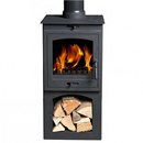 Gallery Fireplaces Helios 5 Cleanburn Multifuel Wood Burning Stove With Log Store