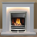 Gallery Fireplaces Hutton Arctic White Marble Fireplace