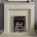 Gallery Fireplaces Langdon Arctic White Marble Fireplace