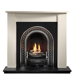 Gallery Fireplaces Regal Cast Arch Limestone Gas Package