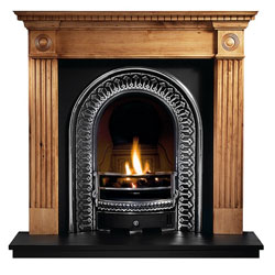 Gallery Fireplaces Regal Cast Arch Wooden Gas Package