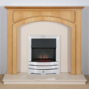 Harrier Fireplaces Cordia Contemporary Freestanding Electric Fireplace Suite