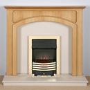 Harrier Fireplaces Cordia Modern Freestanding Electric Fireplace Suite