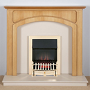Harrier Fireplaces Cordia Traditional Freestanding Electric Fireplace Suite