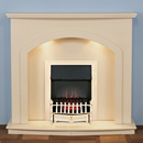 Harrier Fireplaces Dunn Traditional Freestanding Electric Fireplace Suite