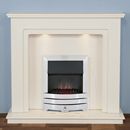 Harrier Fireplaces Fairfield Contemporary Freestanding Electric Fireplace Suite