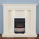 Harrier Fireplaces Fairfield Modern Freestanding Electric Fireplace Suite
