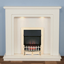 Harrier Fireplaces Fairfield Traditional Freestanding Electric Fireplace Suite