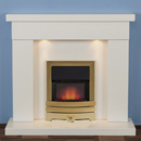 Harrier Fireplaces Foxhome Contemporary Freestanding Electric Fireplace Suite