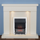 Harrier Fireplaces Foxhome Traditional Freestanding Electric Fireplace Suite