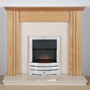Harrier Fireplaces Lanos Contemporary Freestanding Electric Fireplace Suite