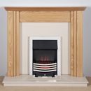 Harrier Fireplaces Lanos Modern Freestanding Electric Fireplace Suite