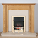 Harrier Fireplaces Lanos Traditional Freestanding Electric Fireplace Suite