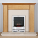 Harrier Fireplaces Miranda Contemporary Freestanding Electric Fireplace Suite
