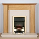 Harrier Fireplaces Miranda Modern Freestanding Electric Fireplace Suite