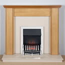 Harrier Fireplaces Miranda Traditional Freestanding Electric Fireplace Suite