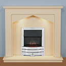 Harrier Fireplaces Ursa Contemporary Freestanding Electric Fireplace Suite