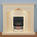 Harrier Fireplaces Ursa Traditional Freestanding Electric Fireplace Suite