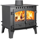Hunter Herald 14 Double Sided SD Multi Fuel Wood Burning Stove