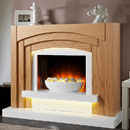 Apex Fires Arcardo Freestanding Electric Fireplace Suite
