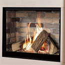 Michael Miller Collection Celena HE Trimless Gas Fire Brick Interior