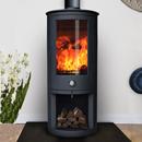 Oak Stoves Zeta 10 Log Store Freestanding Multifuel Wood Burning Stove